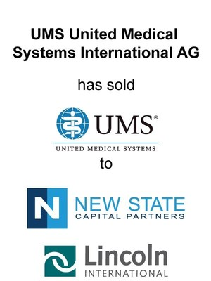 Lincoln International represents UMS United Medical Systems International AG in the sale of United Medical Systems, Inc. to New State Capital Partners, LLC