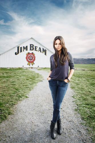 Jim Beam(R) Partners with Mila Kunis. (PRNewsFoto/Beam Inc.) (PRNewsFoto/BEAM INC.)