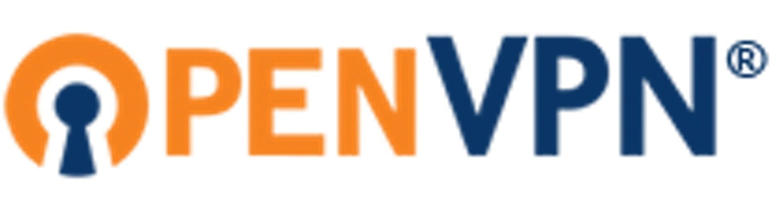 Logo of OpenVPN, now available through the Amazon Web Services (AWS) marketplace.