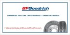 BFGoodrich(R) Commercial Truck Tires is introducing an extended warranty for its commercial truck tires and casings, effective on claims filed on or after Sept. 1, 2015