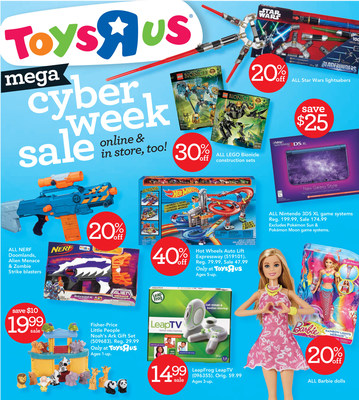 "Toys""R""Us(R) To Start Its Cyber Week On Saturday"