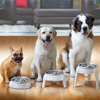 The Outward Hound 3in1 UP Feeder(TM) is the first proprietary product of its kind, featuring slow-feeding ridges and valleys and fold and slide legs that adjust to three distinct feeding heights.