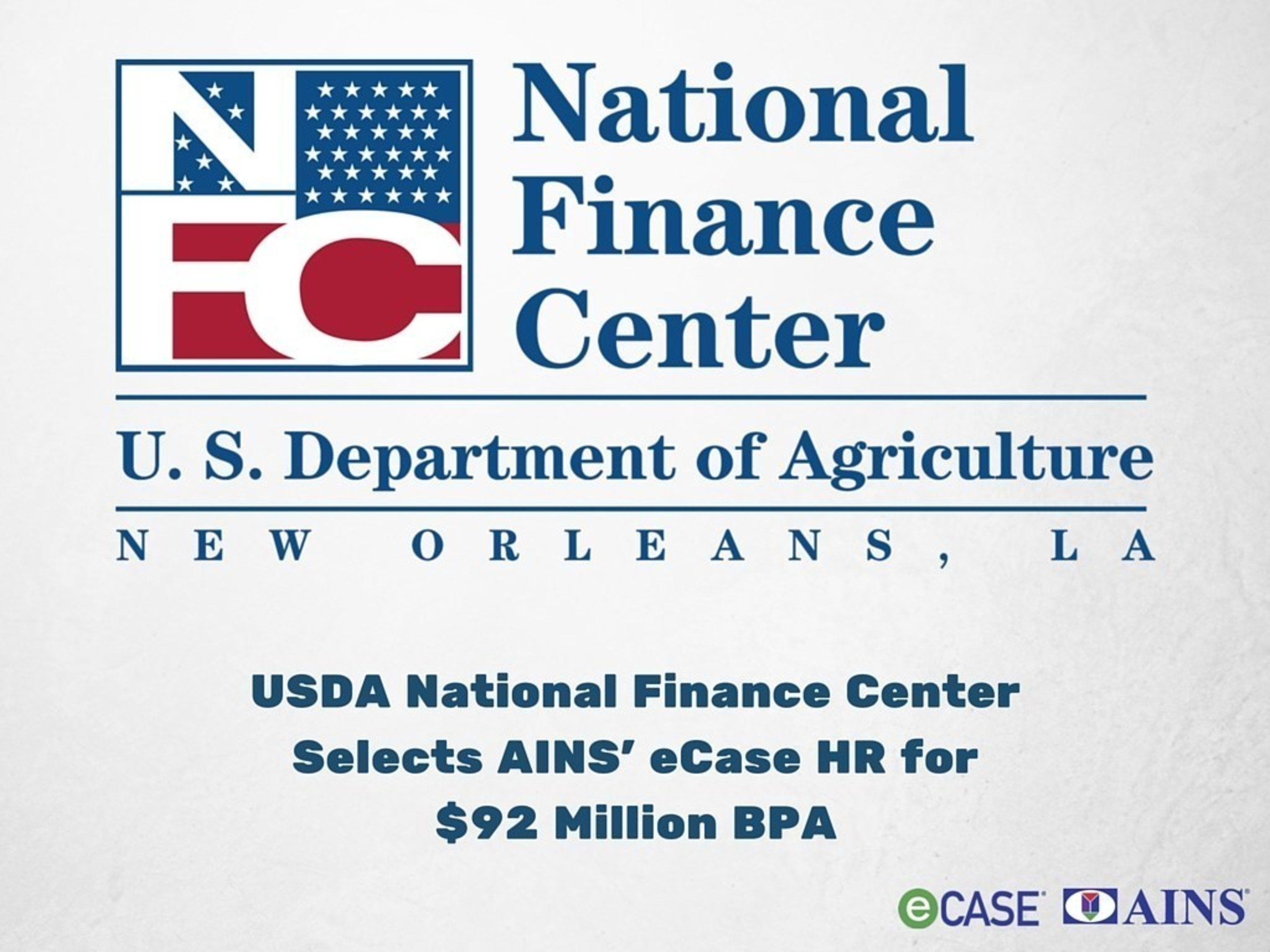 Usda National Finance Center Selects Ains Ecase Hr For Five Year