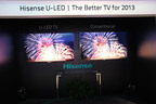 Comparison of dark field, color gamut and image quality between U-LED and LED.  (PRNewsFoto/Hisense)