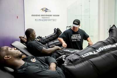 Ravens Recovery Room Powered by NormaTec