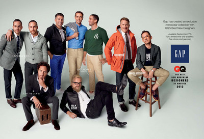 Gap Launches Exclusive Collection With GQ's Best New Menswear Designers.  (PRNewsFoto/Gap Inc.)