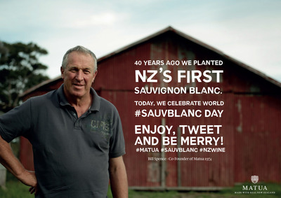 Celebrate #SauvBlanc day with Matua, the New Zealand producer who started it all (PRNewsFoto/Treasury Wine Estates)