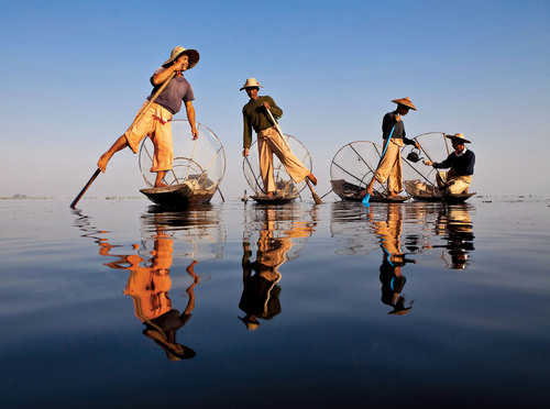 Burmese Fishermen, courtesy of Overseas Adventure Travel.  (PRNewsFoto/Overseas Adventure Travel)