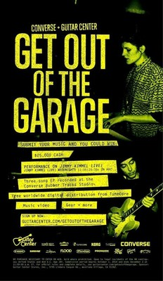 Guitar Center and Converse Announce 2nd Annual 'Get Out of the Garage' (PRNewsFoto/Guitar Center)