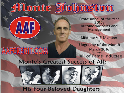 America's Registry Recognizes Monte Johnston of Springdale, AR as Honorable Hall of Fame Inductee