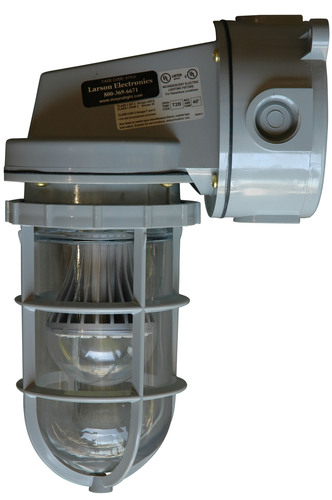 The powerful and durable HALSB-CRNM-LED explosion proof LED strobe light from Larson Electronics is ideal for ...