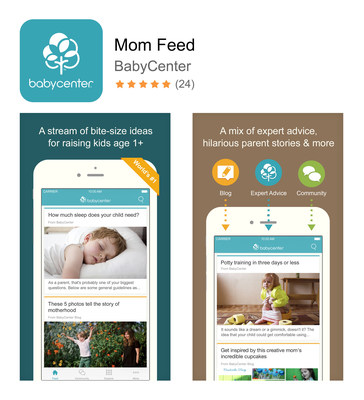 BabyCenter(R) Launches Mom Feed(TM) App for iPhone and iPad