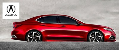 The 2015 Acura TLX is expected to hit lots later this year and West Side Acura will be carrying the coveted model as soon as possible. (PRNewsFoto/West Side Acura)