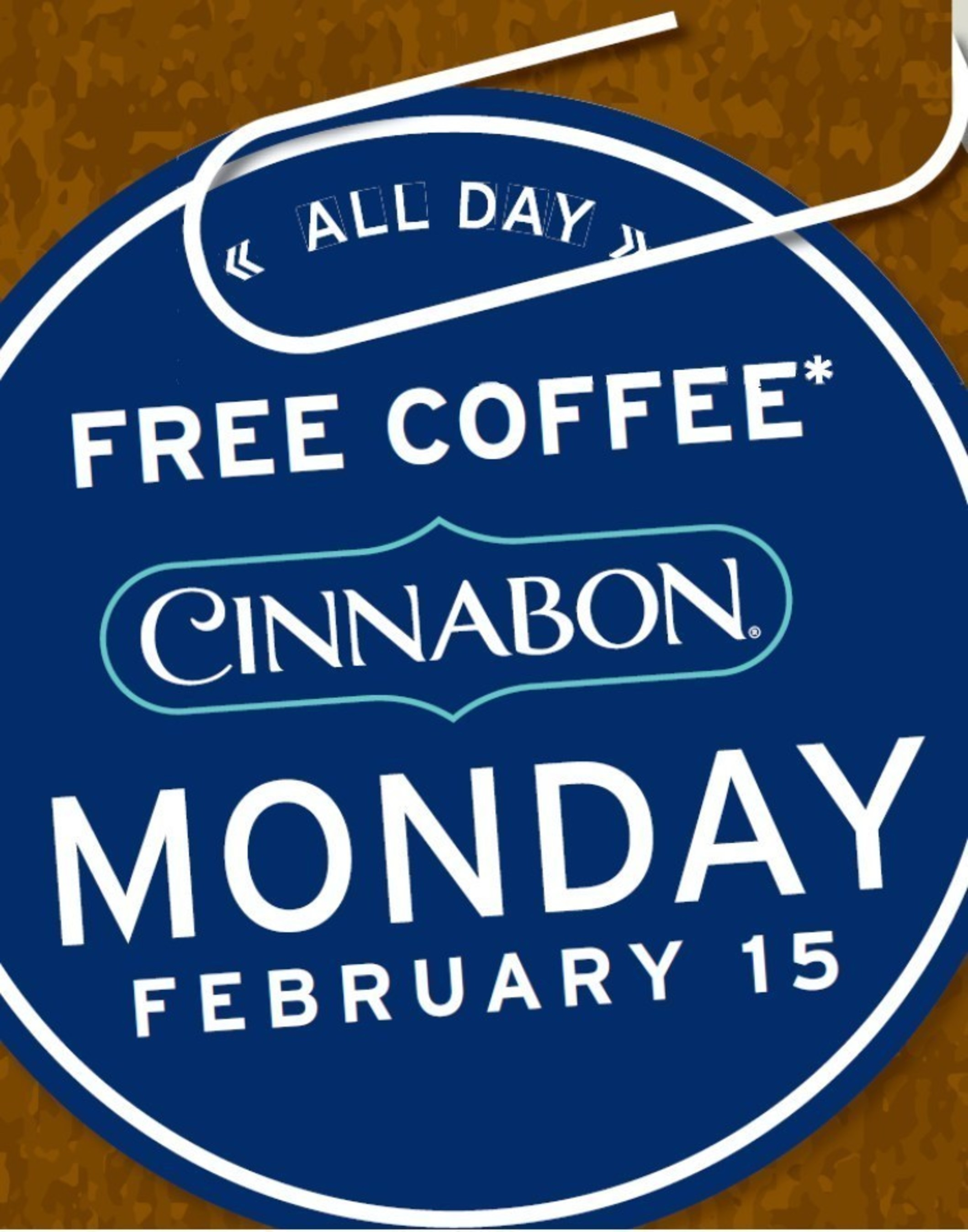 In celebration of the season premiere of Better Call Saul, fans can enjoy a FREE cup of coffee at Cinnabon on  Monday, February 15th, 2016