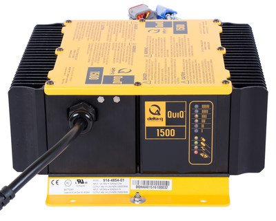 The new QuiQ 1500 Industrial Battery Charger from Delta-Q Technologies has entered production.