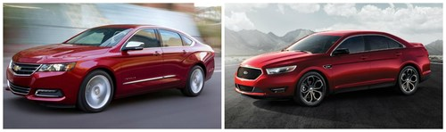 Those shopping for a full-size sedan now have two impressive options available at Harbin Automotive in Scottsboro, Ala., the 2014 Chevy Impala and the 2014 Ford Taurus. (PRNewsFoto/Harbin Automotive)