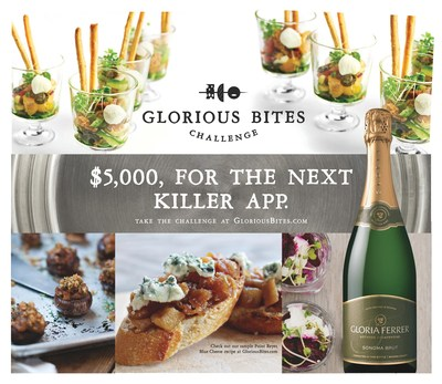 Gloria Ferrer Caves & Vineyards is offering $5000 for the best appetizer recipe in the country.