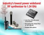 TI introduces industry's lowest power wideband RF synthesizer