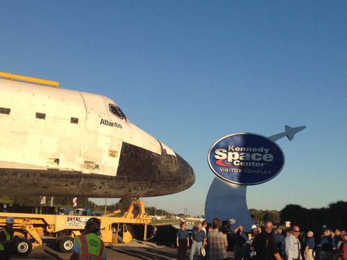 Kennedy Space Center Visitor Complex Welcomes Space Shuttle Atlantis as Centerpiece of $100 Million