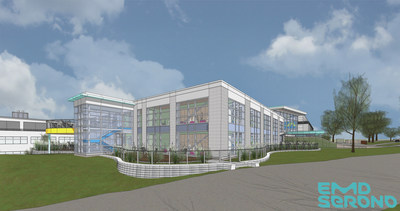 Rendering of the $12M expansion of EMD Serono's R&D facility in Billerica, Massachusetts.
