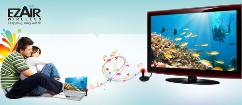 EZAir Wireless PC to TV Solutions Now Available Across Europe