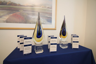 """John Crew, MD and Ron Najafi, PhD received awards from the National Necrotizing Fasciitis Foundation for """"Excellence in Innovative Healthcare""""."""