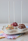 To celebrate National Ice Cream Month, Kristina Vanni shares her Ice Cream Cake Pops recipes made with California ice cream.  (PRNewsFoto/California Milk Advisory Board)