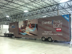 "The ComforPedic Loft ""showroom on wheels"" will travel more than 10,000 miles in a span of 20 weeks to visit retailers in 35 cities across America.  (PRNewsFoto/Simmons Bedding Company)"