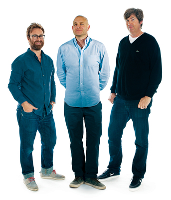 McCann Global Creative Chairman Rob Reilly (center) flanked by new Executive Creative Directors James Dawson-Hollis (left) and Bill Wright. (PRNewsFoto/McCann Worldgroup)