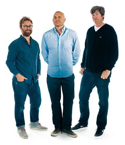 McCann Global Creative Chairman Rob Reilly (center) flanked by new Executive Creative Directors James ...