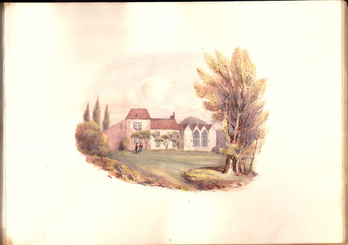 """""""Alfred Tennyson, Birthplace at Somersby"""" plate from """"Views of the Haunts and Homes of the British Poets, Oct. 19 1850"""" (Un-Gyve Press). (PRNewsFoto/Un-Gyve Press)"""