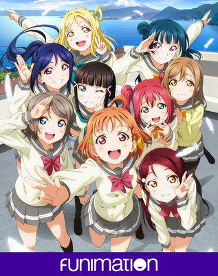 """Love Live! Sunshine!!"" key art. Courtesy of Funimation Entertainment"
