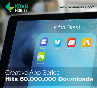 Kdan Mobile has reached more than 60 million mobile downloads worldwide
