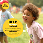 Help #GROWtheGood with Life is Good. Snap a photo and tell us something good that happened today using #GROWtheGood. For every use of the hashtag, Life is Good will donate $1 to help kids in need.
