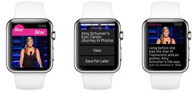 Star Magazine using Wear platform on Apple Watch.