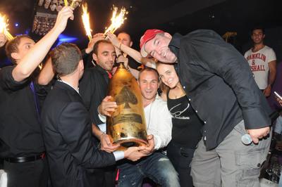 Armand de Brignac 30L Midas Champagne bottle is bought for a record-breaking 120,000 GBP in exclusive London members club by Don Johnson, a professional gambler and US businessman.  (PRNewsFoto/Armand de Brignac)