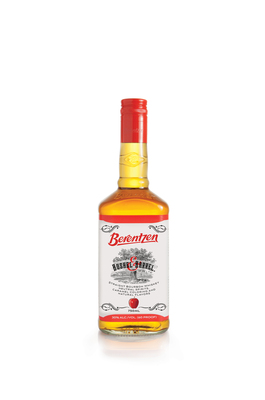"""INTRODUCING BERENTZEN BUSHEL & BARREL(R) -- Real Apple Bourbon That Doesn't Bite.  Berentzen Bushel & Barrel is now available for a suggested retail price of $21.99 for a 750 ml bottle.  For more information on Berentzen Bushel & Barrel, please visit BerentzenUSA.com, """"Like"""" Berentzen USA on Facebook or follow us on Twitter @BerentzenUSA. Berentzen USA reminds you to please enjoy responsibly. (PRNewsFoto/Berentzen USA)"""