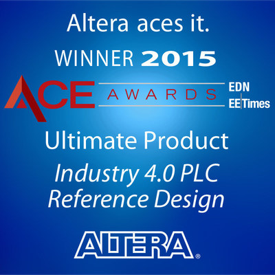 Industry expert judges name Altera's industry 4.0 PLC reference design as ultimate product winner.