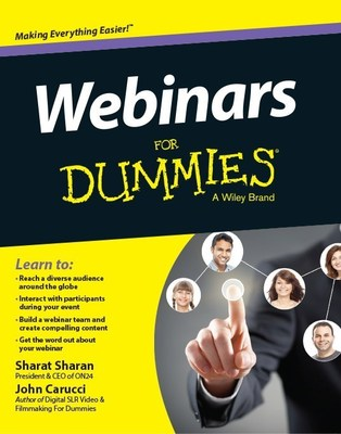 "Get smart about webinars with ""Webinars For Dummies,""co-authored by ON24 President and CEO Sharat Sharan. (PRNewsFoto/ON24)"
