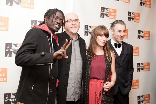Emmanuel Jal, Peter Gabriel, Feist and Alan Cumming at WITNESS 20th Anniversary Benefit.  (PRNewsFoto/WITNESS)