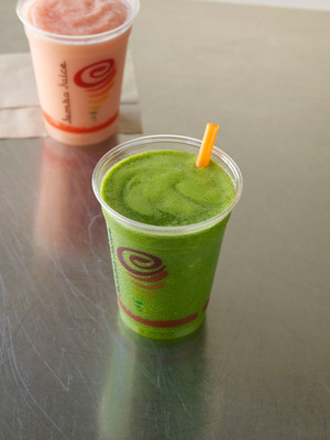 Jamba Juice is supporting healthy habits with the introduction of its Kale Orange Power(TM) Fresh Juice Blend made with fresh orange juice, and blended with chopped whole leaf kale and bananas. From March 11 to March 16, 2014, Jamba Juice will offer a special $2 coupon for customers to try Fruit.  (PRNewsFoto/Jamba Juice Company)