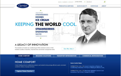 Carrier's dynamic new website improves customer experience.  (PRNewsFoto/Carrier)