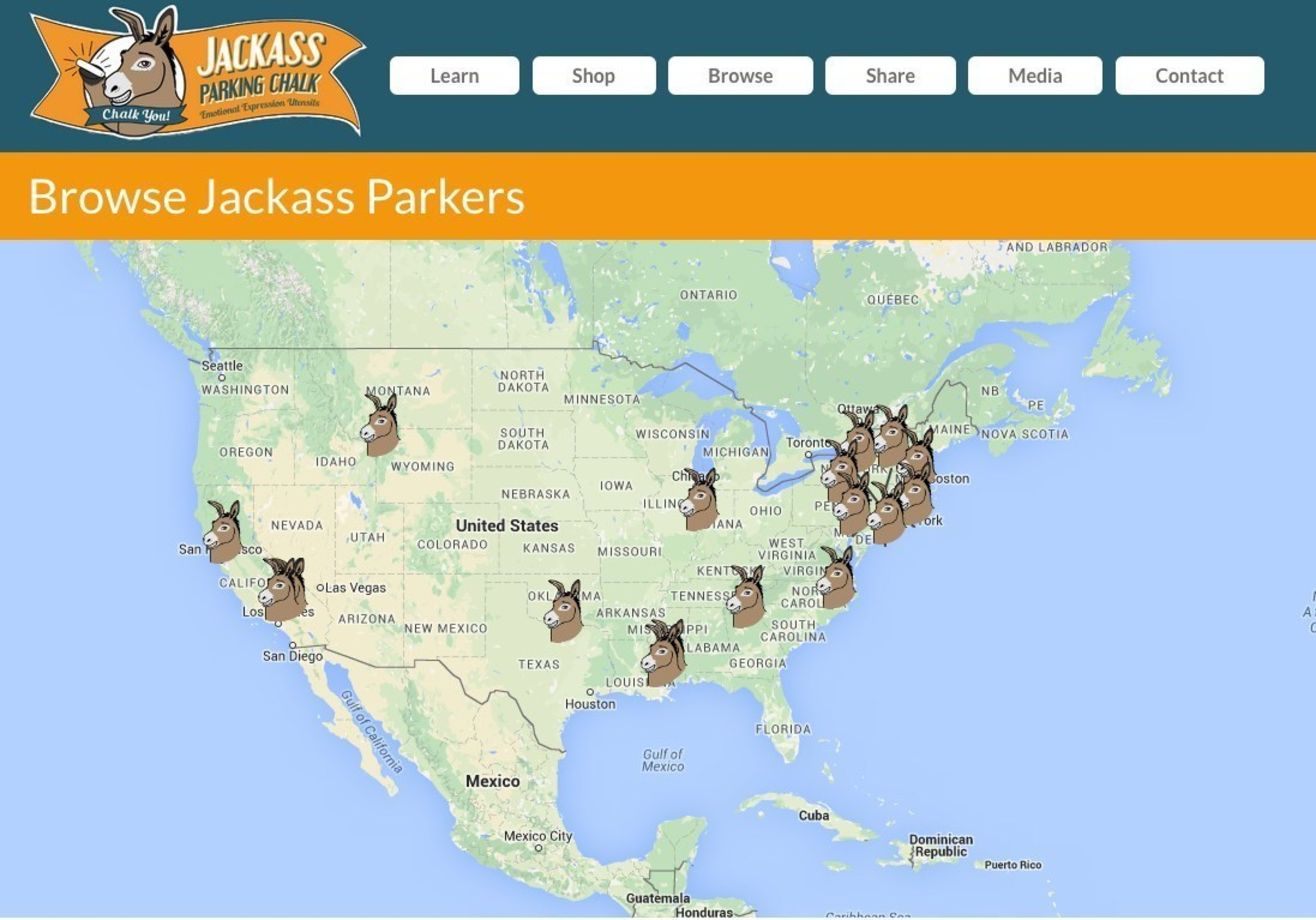 Browse Jackass Parkers at https://chalkyou.com