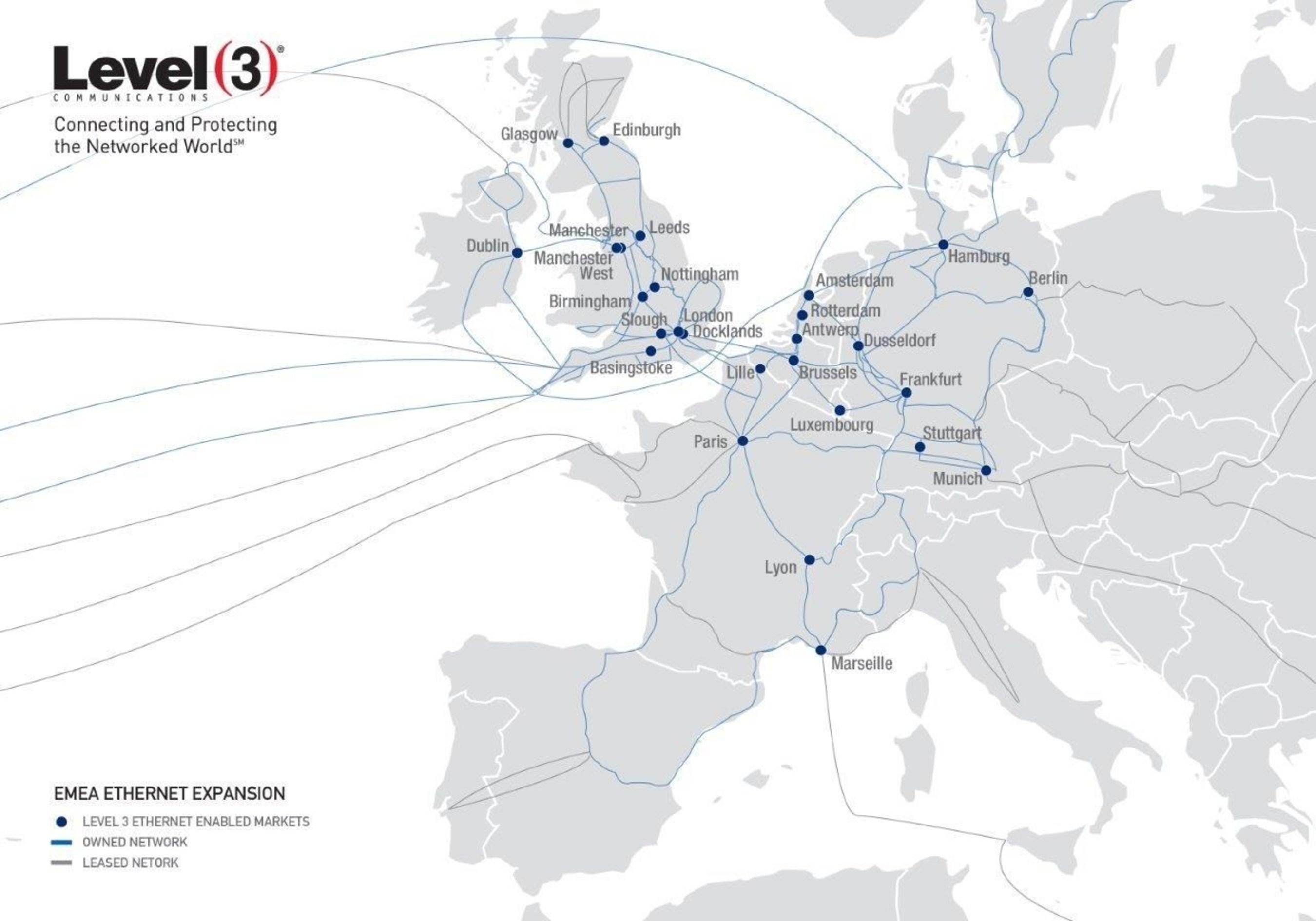 Level 3 bringt seine MEF 2.0 Carrier Ethernet Services nach Europa