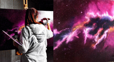 "Painting ""The Little Angel Nebula"" - Oil painting on canvas"