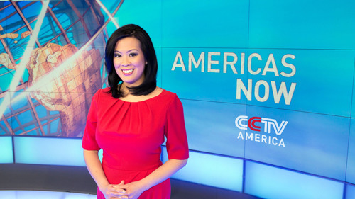 Elaine Reyes is the host of a unique weekly Sunday magazine program from CCTV America, the production arm of China Central Television. AMERICAS NOW - 8pm Eastern Sundays on the CCTV News channel - focuses on the politics, economics, arts and social issues of Central and South America. The program begins a new expanded weekly one hour series starting April 13th. check listings for the CCTV News channel. (PRNewsFoto/CCTV America) (PRNewsFoto/CCTV AMERICA)