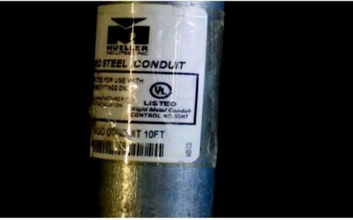 Mueller Comercial De Mexico S DE RL DE CV Warns of Threaded Rigid Metal Conduit with Unauthorized