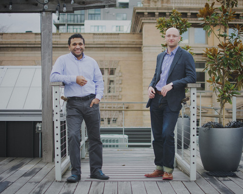 Pictured left to right, Simple Co-Founders, CFO Shamir Karkal, and CEO Josh Reich. (PRNewsFoto/Simple) ...