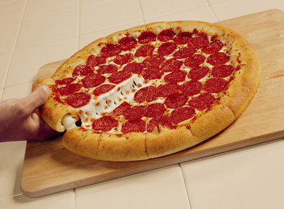 """To celebrate a day stuffed with 1s and the new $10 Stuffed Crust pizza deal, Pizza Hut is giving away 1,111 Stuffed Crust Pizzas on 1/1/11. To take advantage of the offer, """"Like"""" Pizza Hut on Facebook and keep an eye out for Pizza Hut's status update that announces the offer on Jan. 1, 2011.  (PRNewsFoto/Pizza Hut)"""
