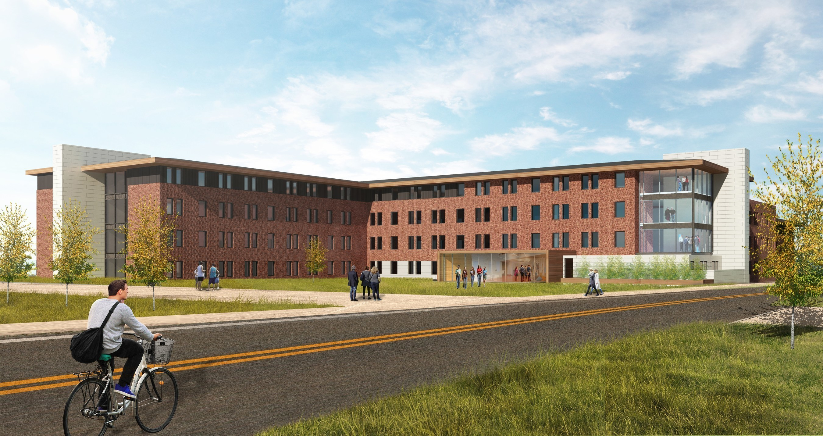 A rendering of the residence hall being built at Texas A&M University-Commerce by EdR.